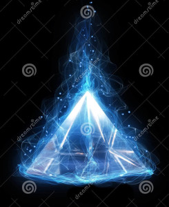 magic-glass-pyramid-black-background-44879522